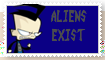 IZ Stamps: Aliens Exist by GreywolfZ
