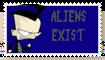 IZ Stamps: Aliens Exist by GreywolfZ