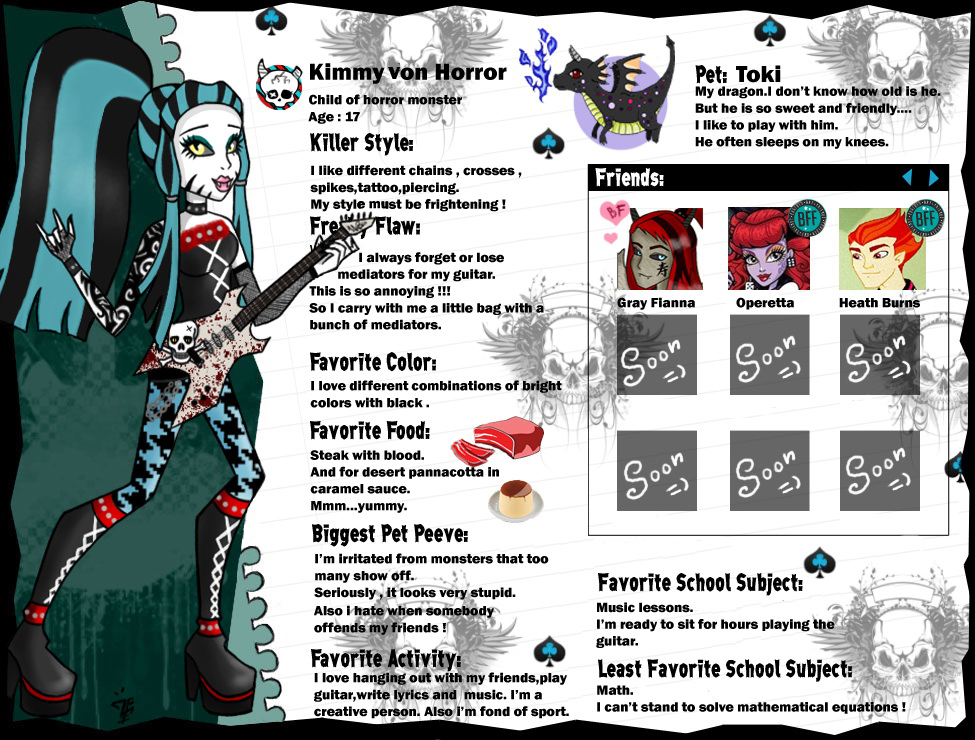 Kimmy von Horror bio by ZP17