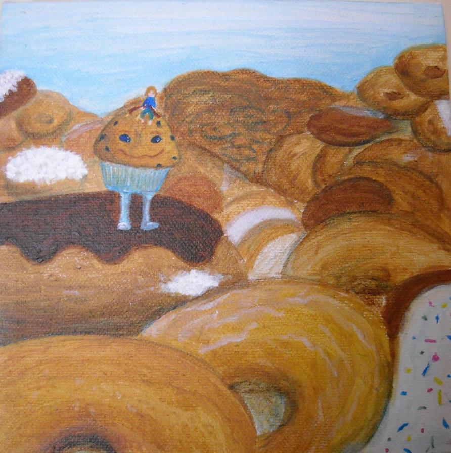 Gluten Dreams-Donut Mountains by bluecatqueen