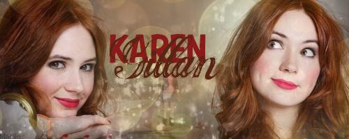 Karen Gillan {Blend} by LieutenantMarille