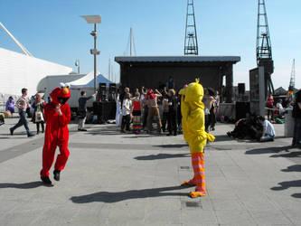 May Expo 2012 Elmo and Big Bird