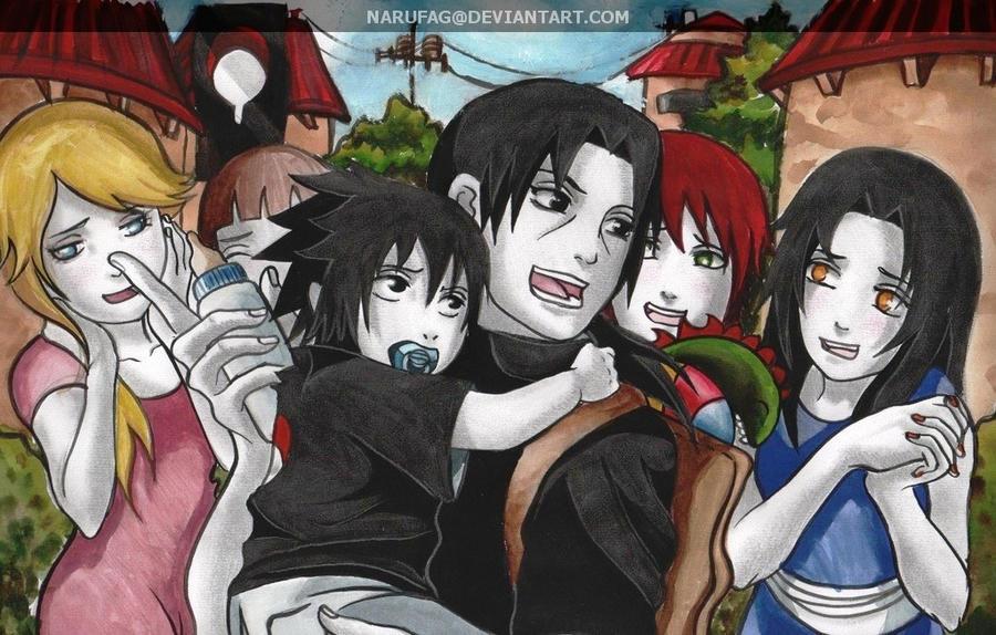 Itachi Holding Baby Sasuke By Narufag On Deviantart