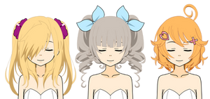 [Kisekae Hair Exports] 'Unpopular Dere' Edition by Bunny-Amoura