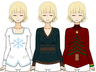[Kisekae Clothes Export] Christmas Sweaters p.1 by Bunny-Amoura