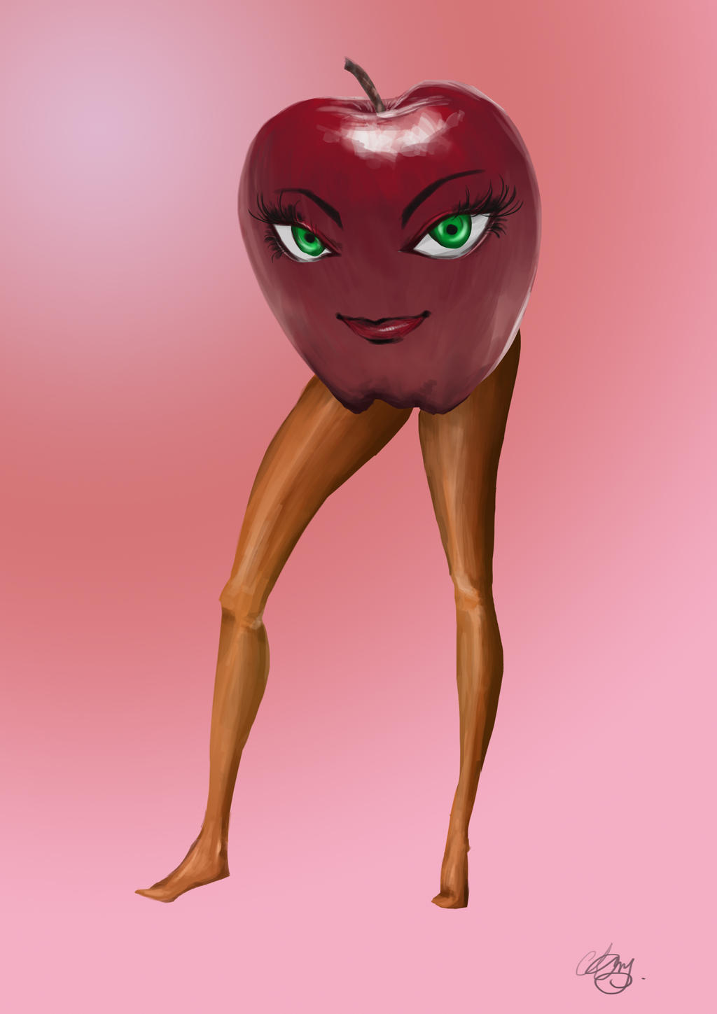 aesthetic apple by SongOfEvangelion on DeviantArt