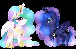 Cheeb Princess Celestia + Luna