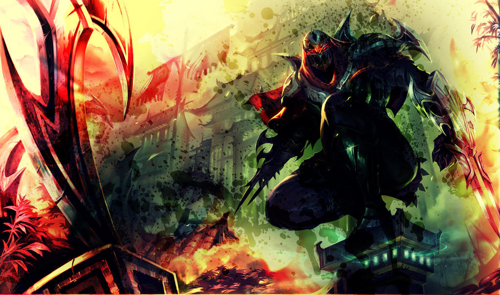 Quick Zed Splash Art Edit by applepopcorn on DeviantArt
