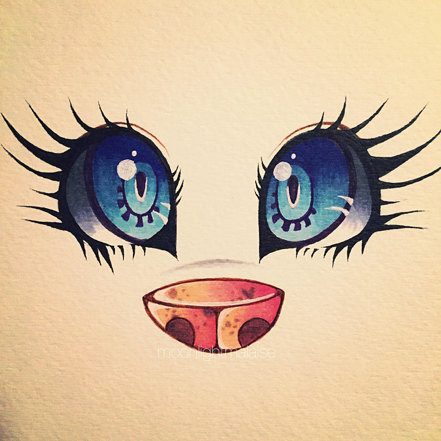 anime wolf eye drawing: Oh What Big Eyes You Have By MoonlightMalaise On DeviantArt