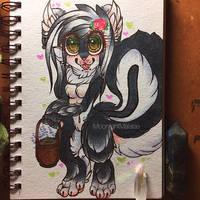 Dakota the Skunk~  by MoonlightMalaise