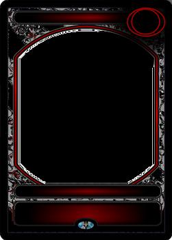 Custom RED/BLK  MTG Blank