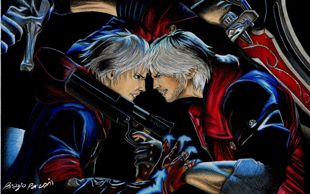 Devil may cry 4 dante vs nero by biagiopanzani on deviantart devil may cry 4 dante vs nero by biagiopanzani voltagebd Images