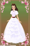 Scarlett O'Hara White Dress