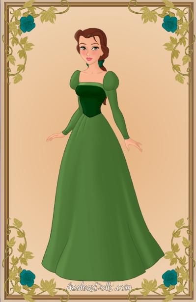 Belle Green Dress By Kawaiibrit On Deviantart