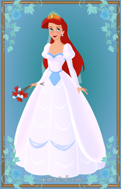 Disney Princess Ariel Wedding Dress Costume 15