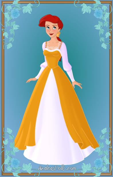 ariel yellow dress by kawaiibrit on deviantart
