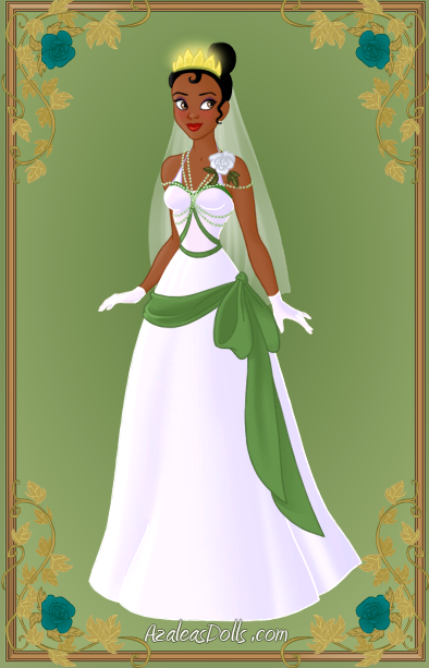Tiana wedding dress by kawaiibrit on deviantart for Princess tiana wedding dress