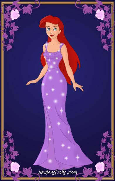 ariel purple dress by kawaiibrit on deviantart