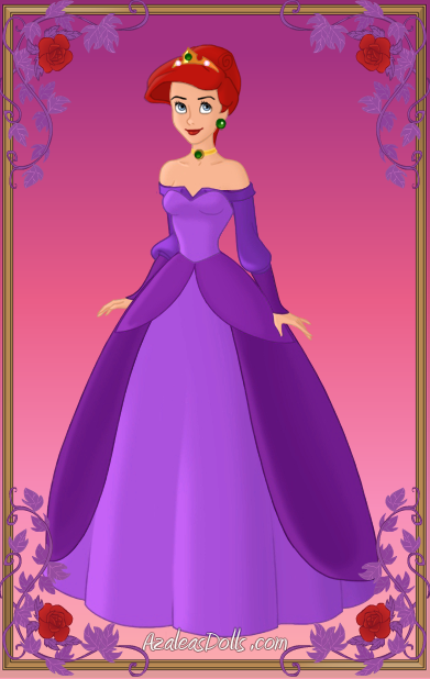 ariel purple ballgown by kawaiibrit on deviantart