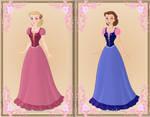 Maiden Liana and Alexa { Barbie: Diamond Castle }