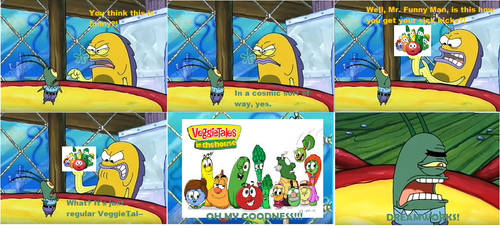 Plankton's reaction to VeggieTales redesign by ToonFanJoey