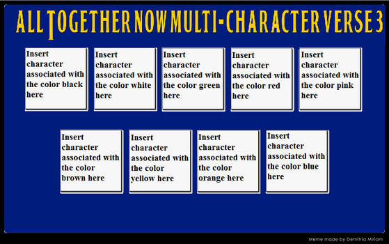 All Together Now Multi-Character verse meme 3