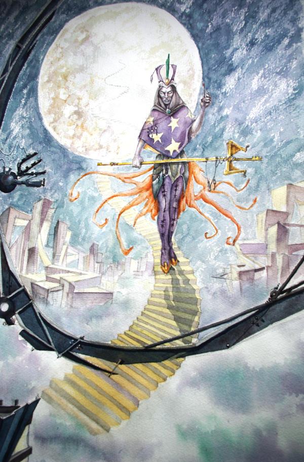 Silver thread's demon by renata-studio