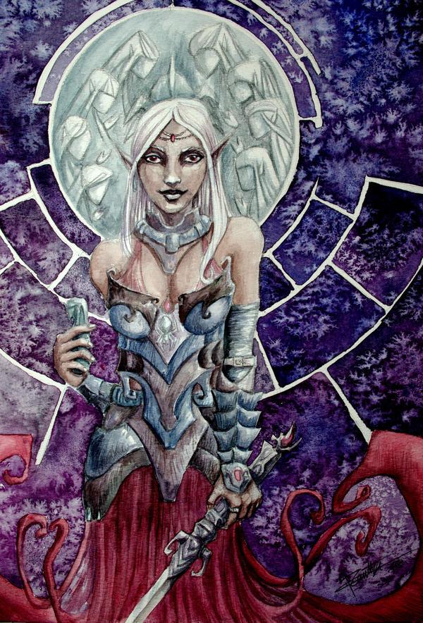 Drow priestess by renata-studio