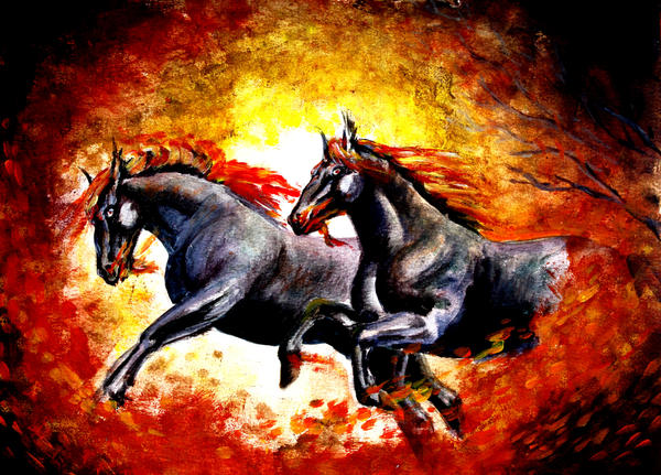 Demon horses by renata-studio