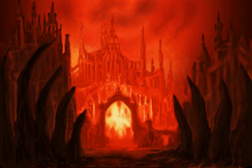 At the gates of hell by renata-studio