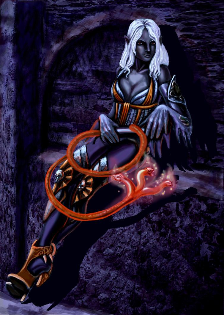 Drow mistress by renata-studio