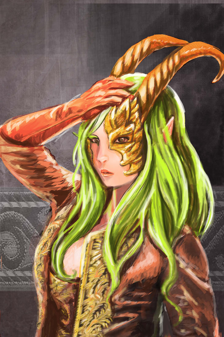 Green demon copy by renata-studio