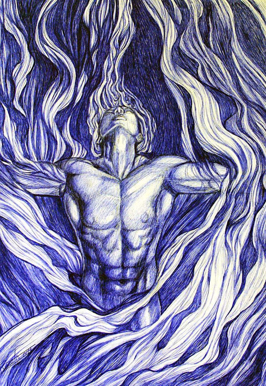 Fire elemental by renata-studio