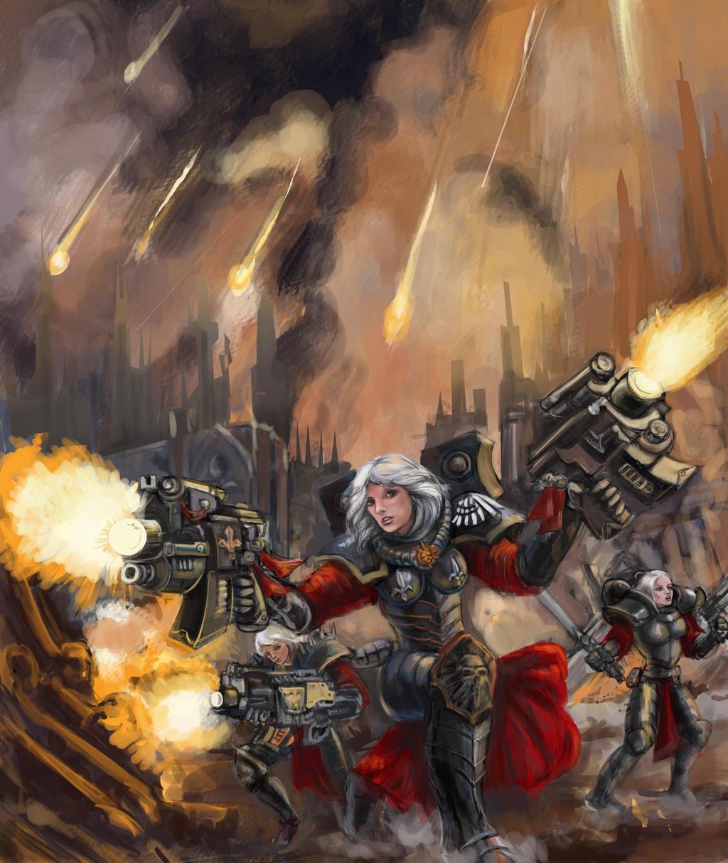 Sororitas Warhammer 40K by renata-studio
