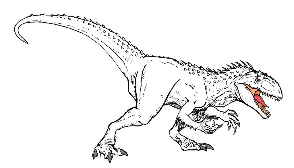 Printable Coloring Pages Jurassic World : Images about jurassic world indominus rex diabolus