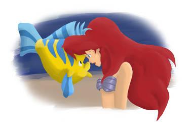 ariel + flounder