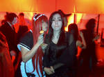Morticia and me at the party