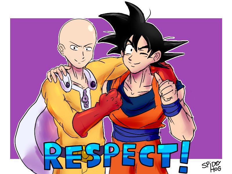 Saitama and Goku by SpideyHog