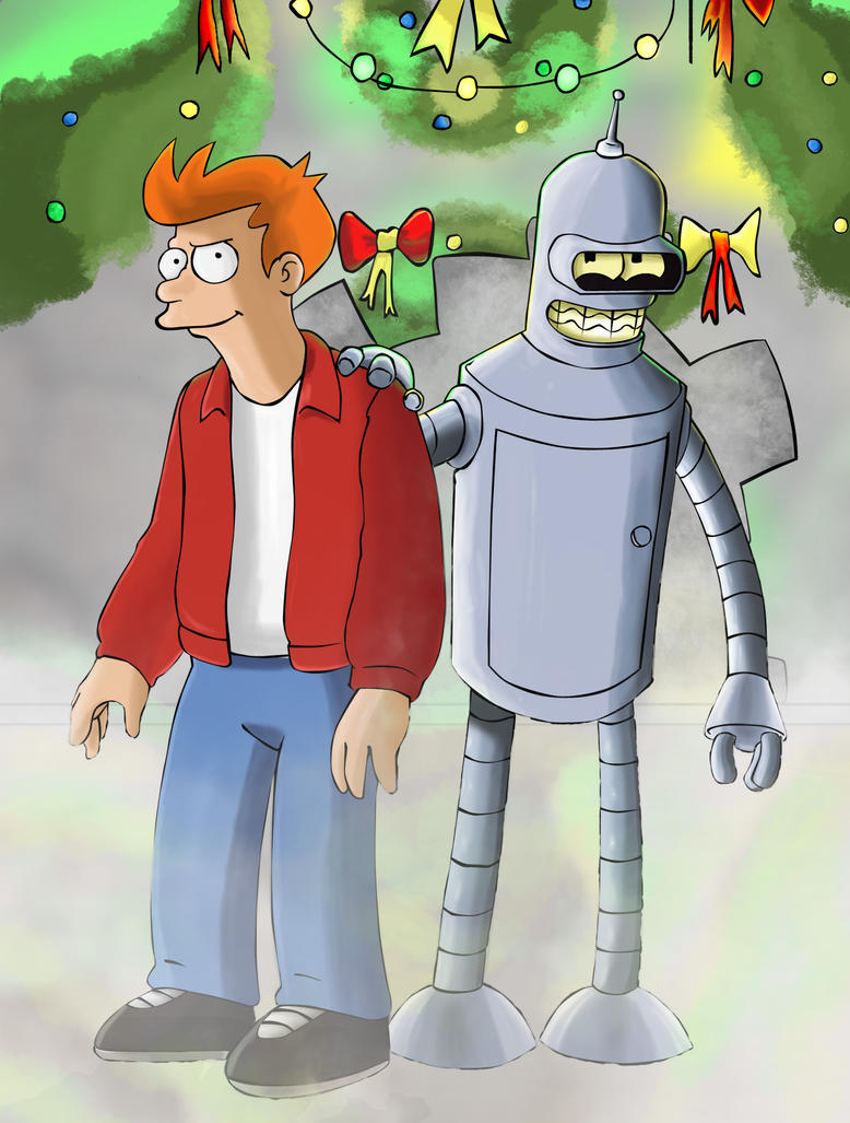 Fry and Bender by dada0016