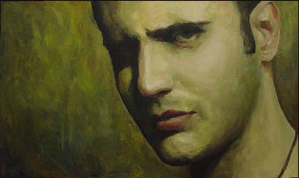 small Self PortraitII  35x52 2005 by MalDuDepart