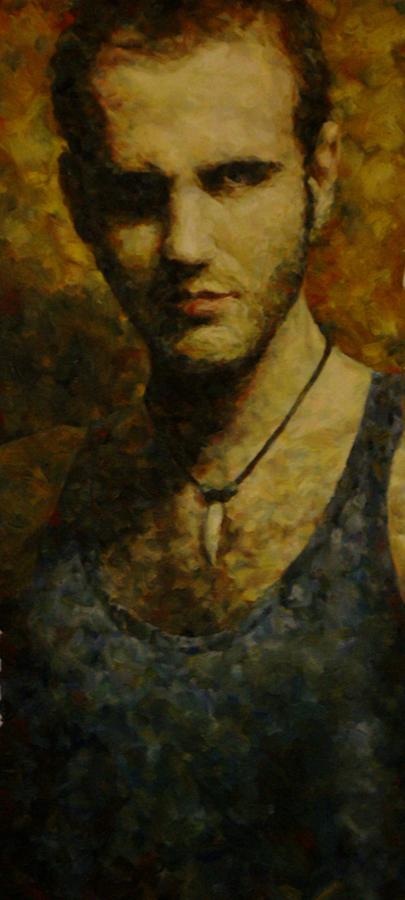 small Self Portrait IV 35x70 2007 by Manolis Frang by MalDuDepart