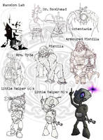Monsters and Mad scientists boardgame concept art by MalDuDepart