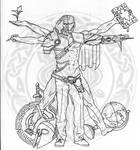 Fantasy Vitruvian Sketch
