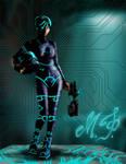 Sci-Fi Circuit Girl