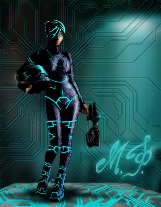 Sci-Fi Circuit Girl by MalDuDepart