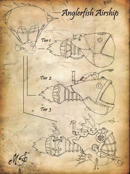 Steampunk Airship Sketch