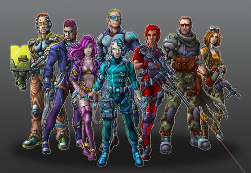 Nightlancers Game Characters by Manolis Frangidis