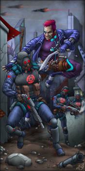 Nightlancers Cover Art #1 by Manolis Frangidis