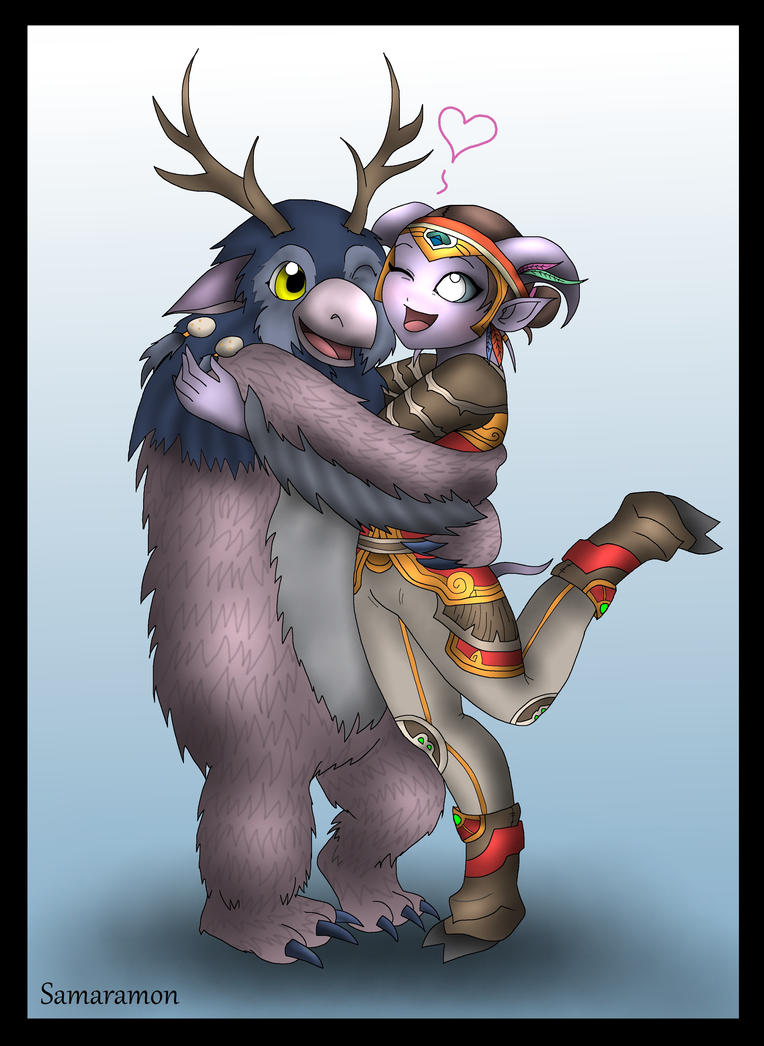 Moonkin hug! (Commission) by Samaramon
