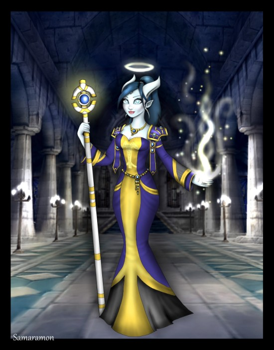 Draenei Priestess (smaller version) by Samaramon